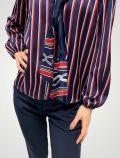 Camicia manica lunga Sandro Ferrone - blu rosso - 1