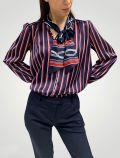 Camicia manica lunga Sandro Ferrone - blu rosso - 2