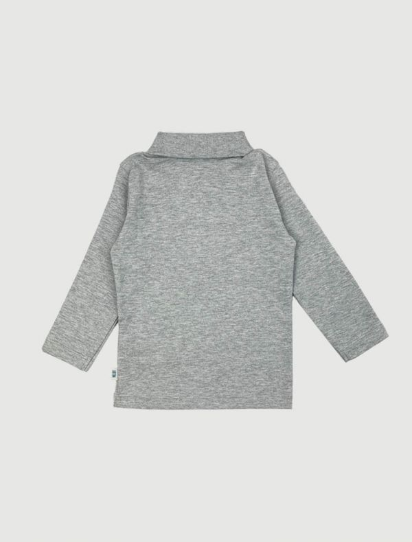 Polo manica lunga Melby - grigio