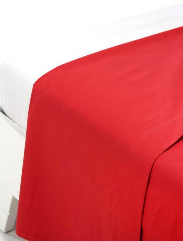 Lenzuola piana 1 piazza - rosso - 0