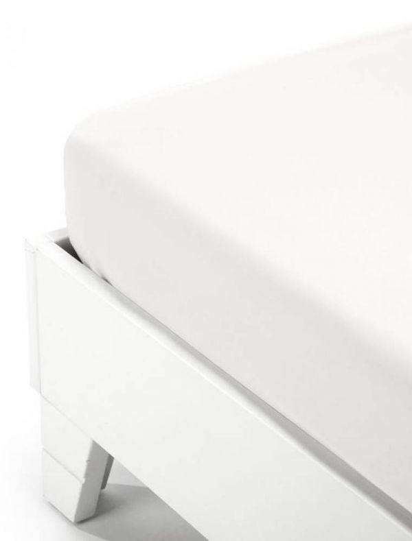 Lenzuola con angoli 2 piazze - bianco - 0