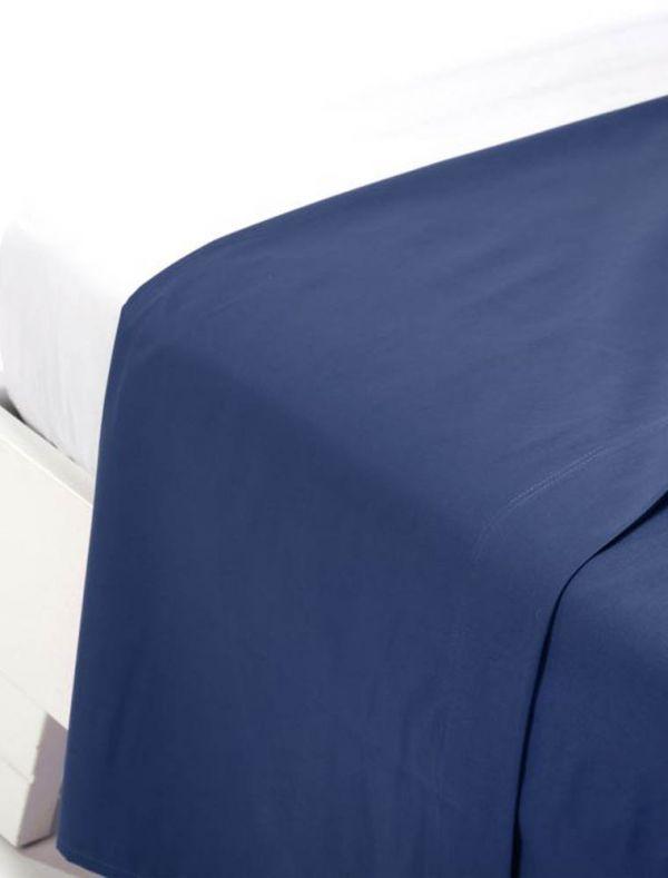 Lenzuola piana 2 piazze - blu - 0