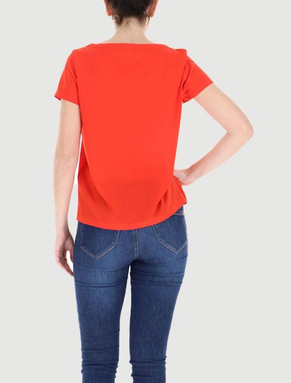 Camicia manica corta - arancio