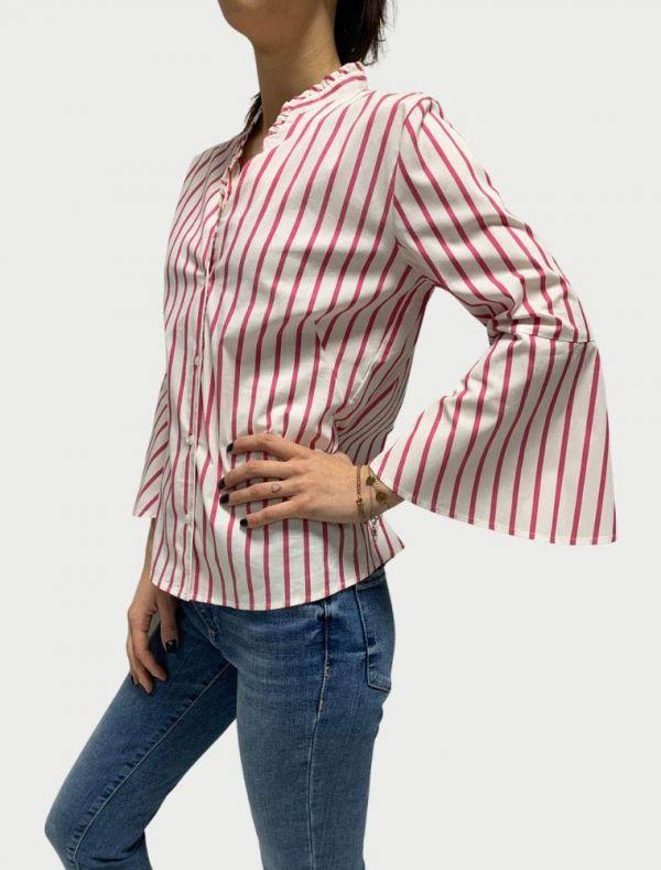Camicia manica lunga Emme - fuxia