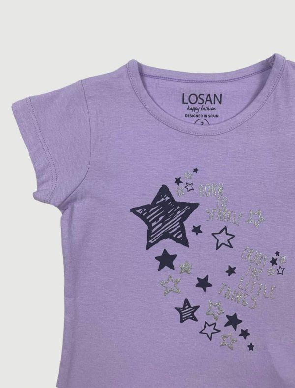 T-shirt manica corta Losan - lilla