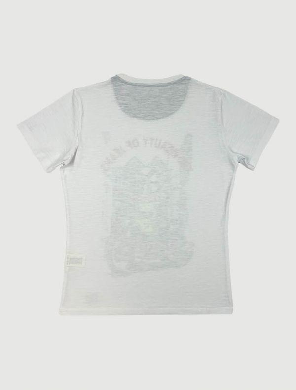 T-shirt manica corta Yes Zee - bianco