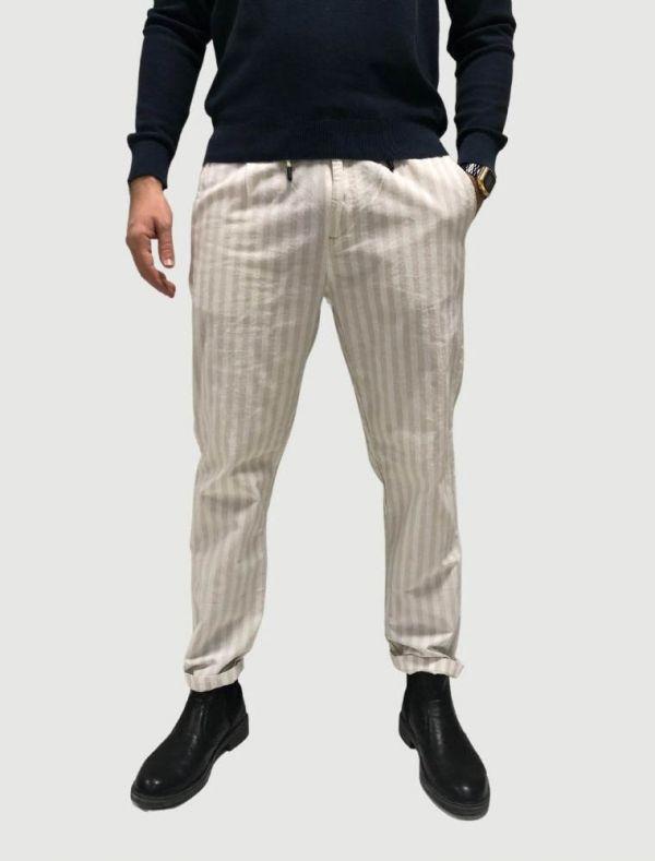 Pantalone casual Superior Vintage - beige