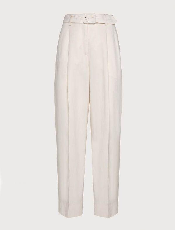 Pantalone Seventy - panna