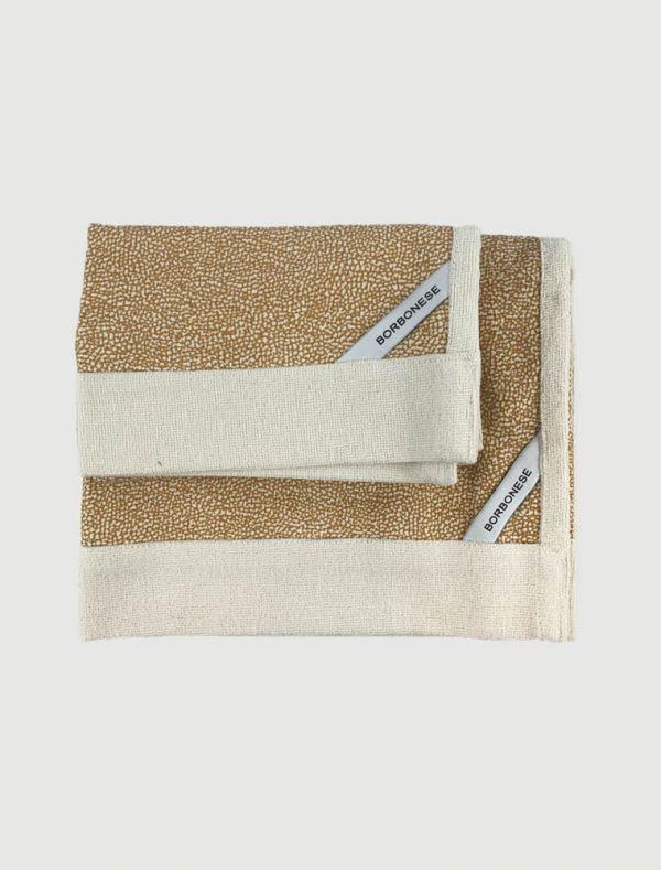 Completo asciugamani Borbonese - cammello