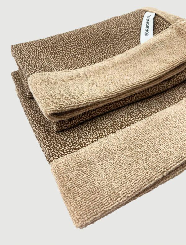 Completo asciugamani Borbonese - tortora