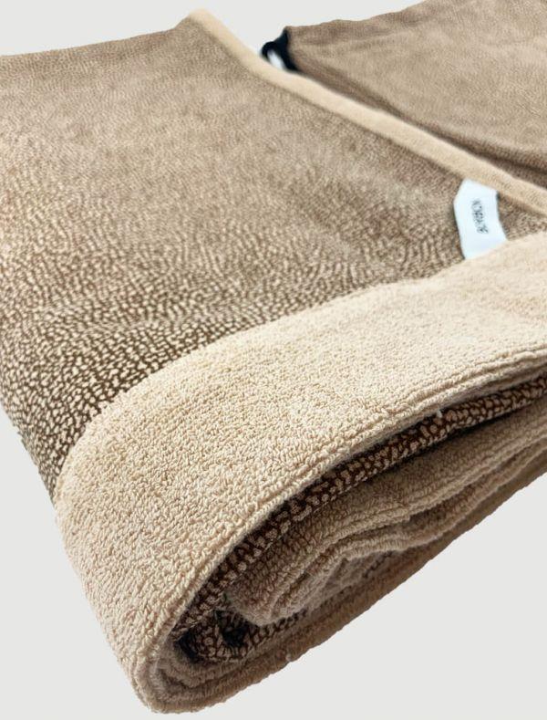 Asciugamano grande Borbonese - tortora