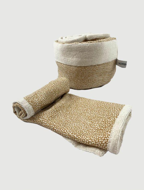 Asciugamano piccolo Borbonese - cammello