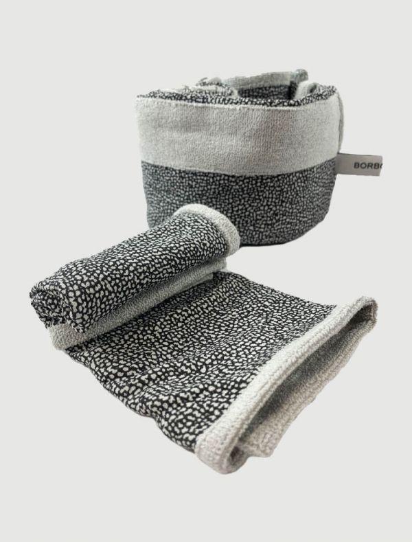 Asciugamano piccolo Borbonese - piombo