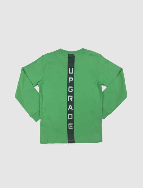 T-shirt manica lunga Melby - verde fluo
