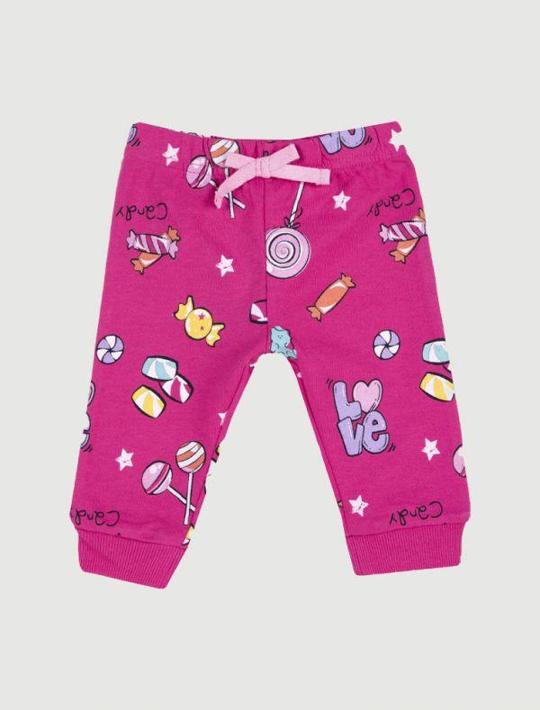 Pantalone in felpa Chicco - rosa - 0
