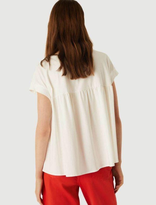 T-shirt manica corta Emme - bianco