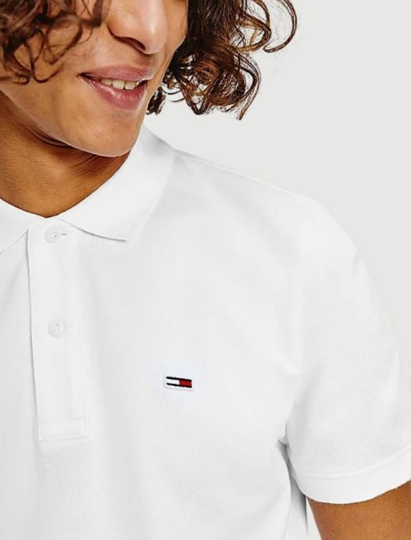 Polo manica corta Tommy Jeans - white