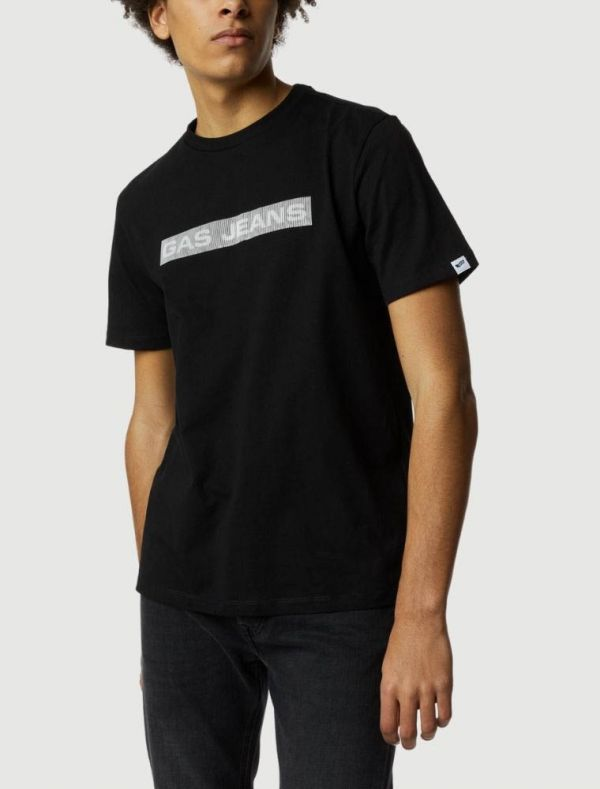 T-shirt manica corta Gas - black