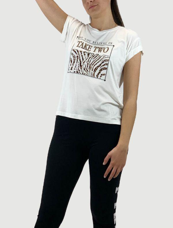 T-shirt manica corta - latte