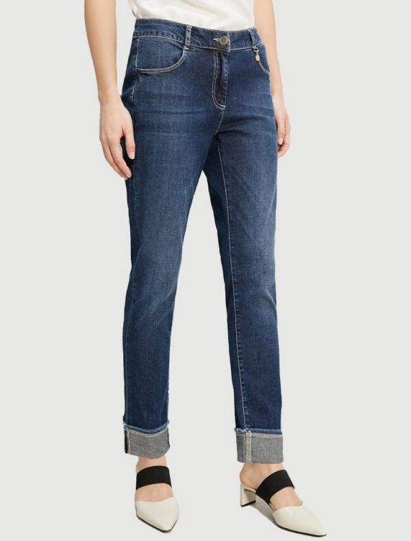 Pantalone jeans - blu