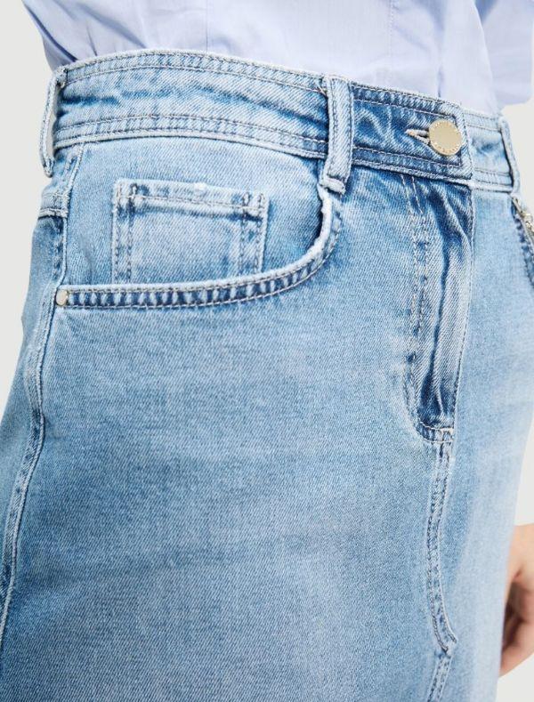 Gonna in jeans Grey Pennyblack - blu denim