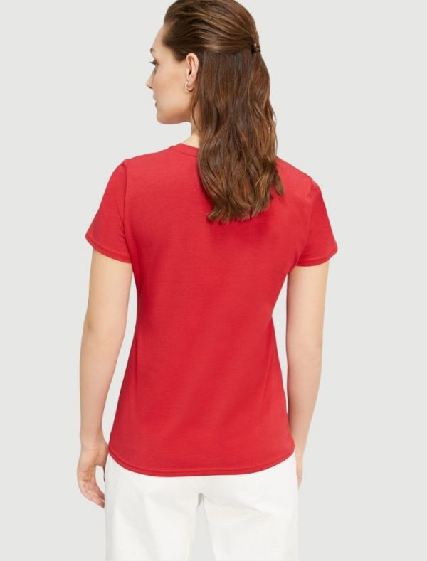 T-shirt manica corta Grey Pennyblack - red