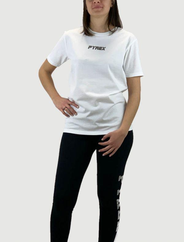 T-shirt manica corta Pyrex - bianco