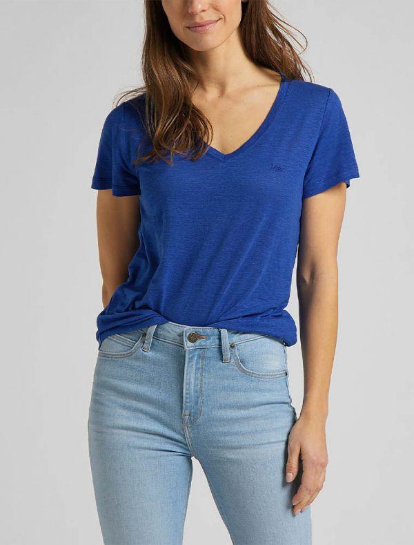 T-shirt manica corta - blu