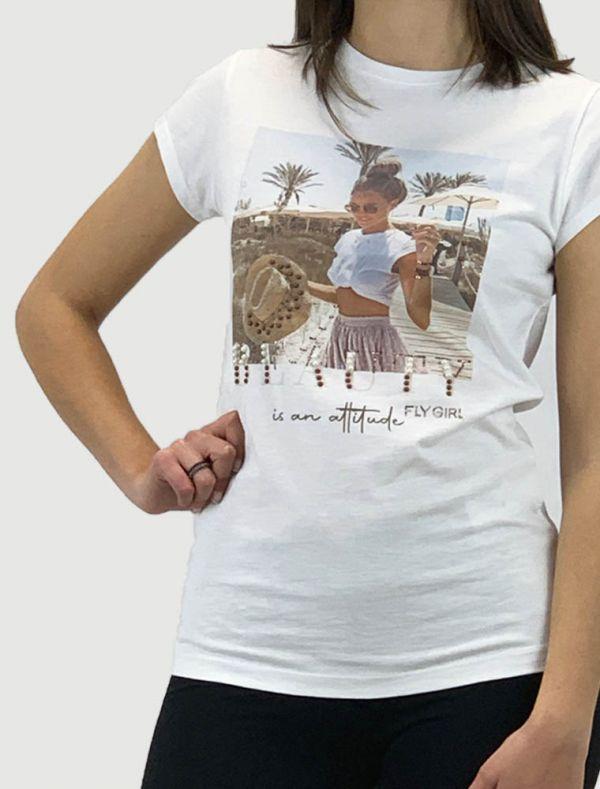 T-shirt manica corta - bianco