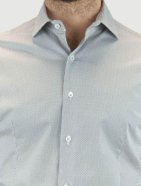 Camicia manica lunga Identikit - microfantasia beige