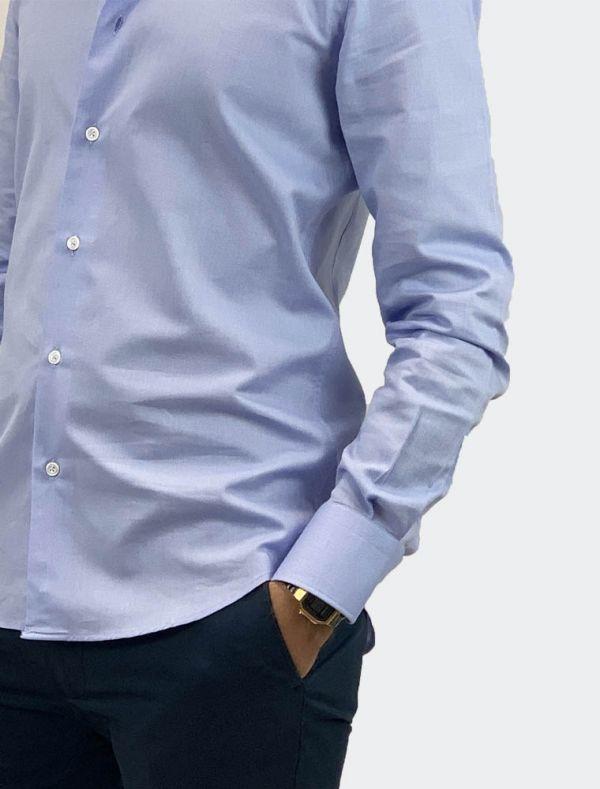 Camicia manica lunga Bottega Artigiana - azzurro