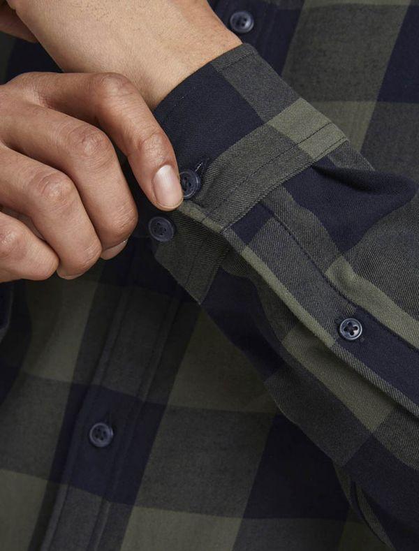 Camicia manica lunga casual Jack & Jones - olive