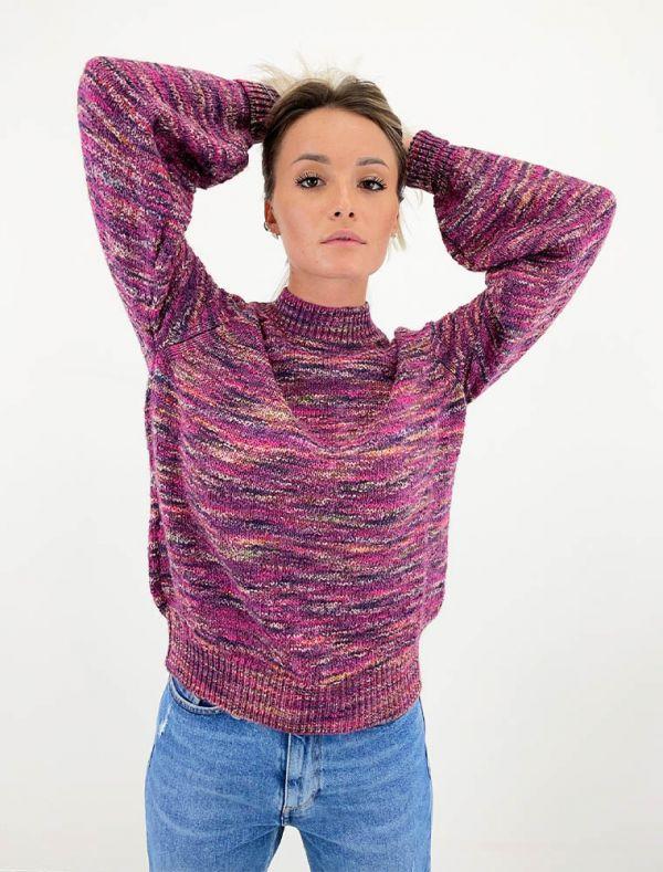 Pullover manica lunga Gas - purple