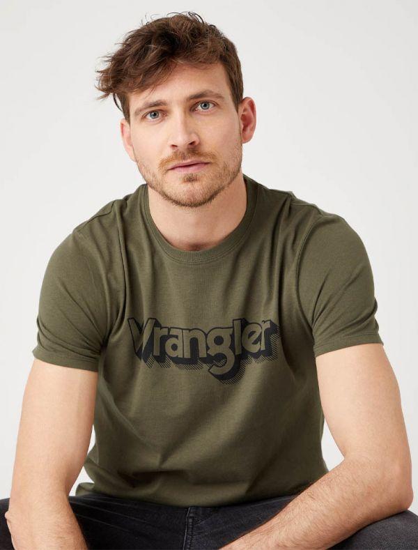 T-shirt manica corta Wrangler - green