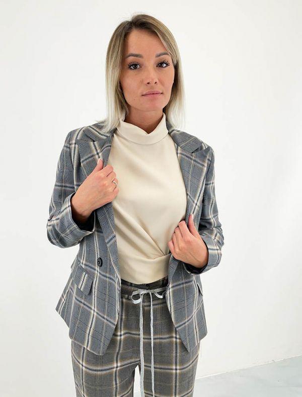 Giacca Artigli - grigio panna