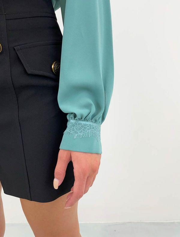 Camicia manica lunga Artigli - anice