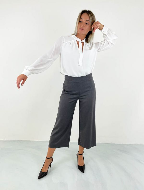 Camicia manica lunga Artigli - panna