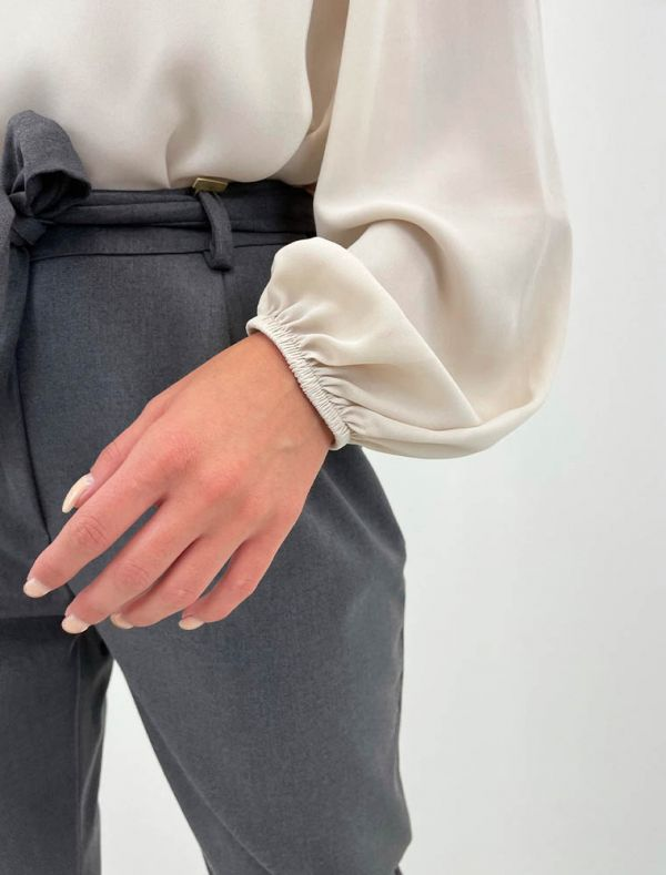 Camicia manica lunga Artigli - avorio