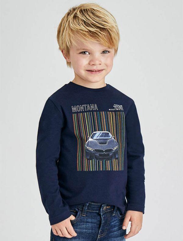 T-shirt manica lunga Mayoral - marino
